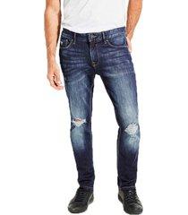 jeans slim taper awbd azul guess