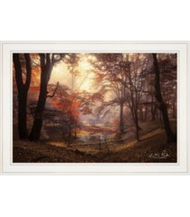 "trendy decor 4u the pool by martin podt, ready to hang framed print, white frame, 27"" x 15"""