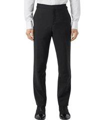 men's burberry crystal embellished dress pants, size 48 eu - black