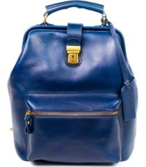 old trend doctor leather backpack