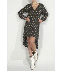vestido para mujer topmark, medio y estampado de bolas y puntos