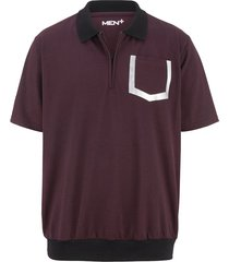 poloshirt men plus bordeaux::zwart
