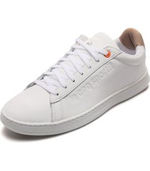 tenis lifestyle blanco-beige le coq sportif break tech