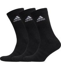 3-stripes performance crew socks 3-pack underwear socks regular socks svart adidas performance
