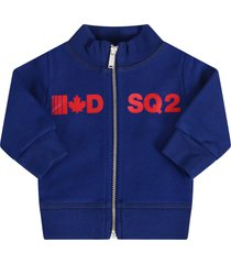 dsquared2 blue sweatshirt for babyboy with logo