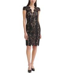 eliza j lace bodycon dress