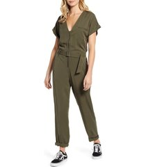 women's lira clothing libby zip front jumpsuit, size x-small - green