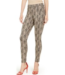 hue python-print high-waisted denim leggings