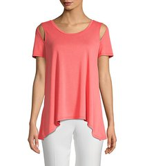 asymmetrical cut-out top