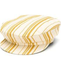 ann demeulemeester striped fisherman hat - neutrals