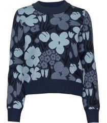 kotva talkoot knitted pullover stickad tröja blå marimekko