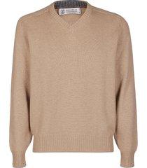 brunello cucinelli v-neck cashemre sweatshirt