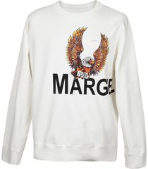 mm6 maison margiela mm6 6 eagle sweatshirt in cotton