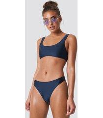 na-kd swimwear sporty bikini briefs - blue