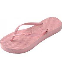 sandalias slim flatform rosado havaianas