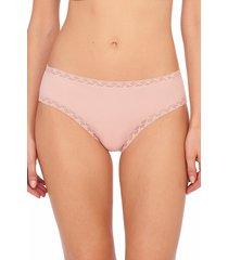 natori intimates bliss girl brief panty, women's, 100% cotton, size l