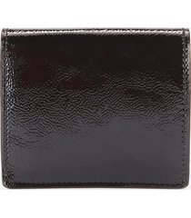 ted baker women's adeley crinkle patent mini purse on a chain - black