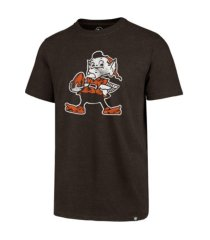 '47 brand cleveland browns men's throwback club t-shirt