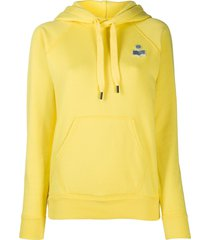 isabel marant étoile malibu pullover hoodie - yellow
