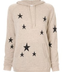 chinti and parker star knit hoodie - brown