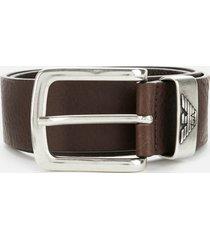 emporio armani men's belt - brown - eu 100/w39.5