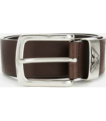 emporio armani men's belt - brown - eu 100/w39.5