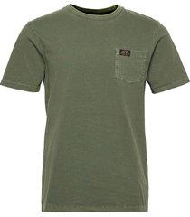 workwear pocket tee t-shirts short-sleeved grön superdry