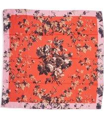 women's dries van noten floral silk scarf