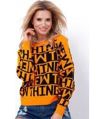 sweter z napisami new thing