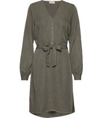 bellevue dress knälång klänning grön modström