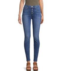hudson women's blair high-rise super skinny jeans - blue - size 31 (10)