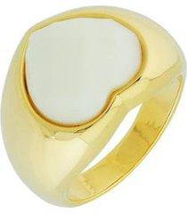 anel dona diva semi joias coração cristal