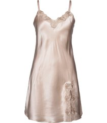 slip with lace nachthemd negligé beige lady avenue