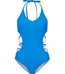 costume intero sostenibile (blu) - bodyflirt