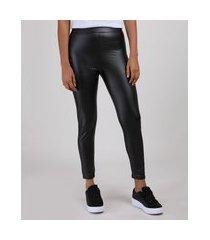 calça legging feminina cintura alta cirrê preta