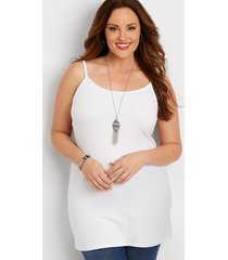 maurices plus size womens basic layering cami white