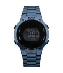 relógio feminino euro digital - eubj3279ac4a azul