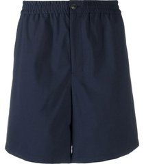 ami alexandre mattiussi navy wool bermuda shorts
