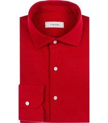 camicia da uomo su misura, maglificio maggia, rossa piquet cotone, quattro stagioni | lanieri