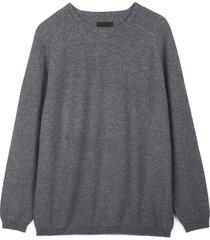 cashmere travel sweater m/l - grey