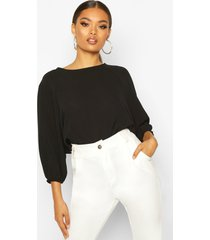 batwing sleeve blouse, black