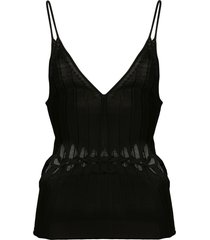 dion lee braided cami top - black