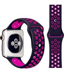 pulsera apple watch silicona negro todobags