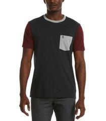 original penguin men's color-block heathered pocket t-shirt
