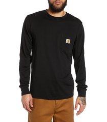 men's carhartt work in progress pocket t-shirt, size small - black