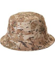 carhartt work in progress script bucket hat, size small in camo combi /desert /white at nordstrom