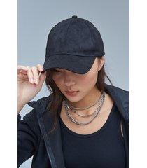 gorra negra 47 street suede
