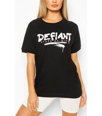 defiant oversized sweat top, black