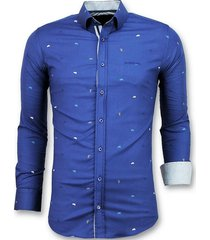 getailleerde overhemden mannen - bicycle blouse heren - 3017