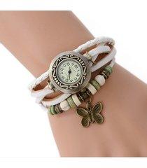 reloj pulsera vintage mariposa - blanco